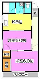 コーポチェリー[1階]の間取り