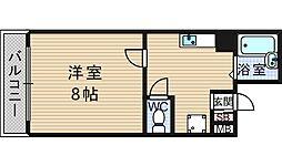 レフィナード鶴翁[504号室]の間取り