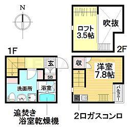愛知県名古屋市瑞穂区井戸田町4丁目の賃貸アパートの間取り