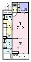 東京都八王子市石川町の賃貸マンションの間取り
