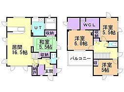 亀田本町53番戸建 1階4LDKの間取り