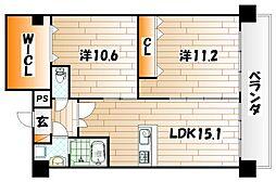 コンプレート古船場[11階]の間取り