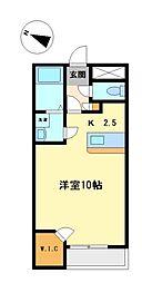 レオネクスト半田東C[2階]の間取り