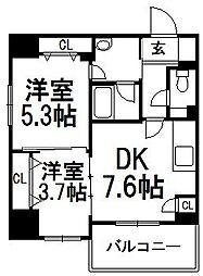クリオ札幌大通[1401号室]の間取り