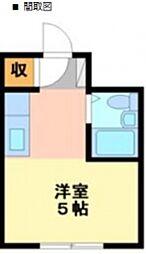 エクセレントアパートメントKNST[2階]の間取り