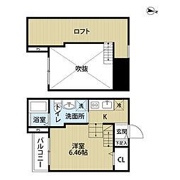 ポルトボヌール[2階]の間取り