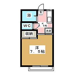 コンフォートドーバ[2階]の間取り