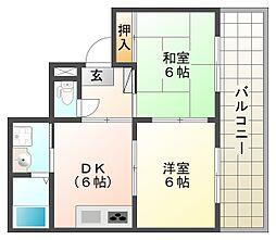 サンピア神戸西[4階]の間取り