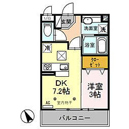 (仮)新堀D-room[1階]の間取り