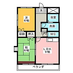 ディアコートPAL[4階]の間取り
