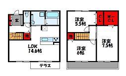 コンフォルタ柚月 A棟[2階]の間取り