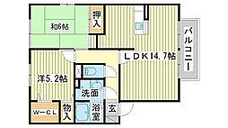 ロイヤルグレース花田B棟[2階]の間取り