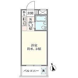 ニューハイム早稲田[306号室]の間取り