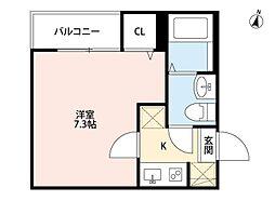 tocco江北(トッココウホク)[2階]の間取り