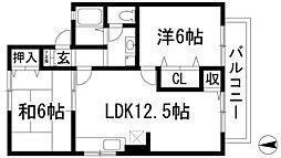 シャルマンコート A棟[2階]の間取り