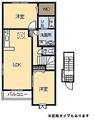 フラン・アンジュ Ⅱ[2階]の間取り