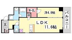 神戸ボナールレジデンス[4階]の間取り