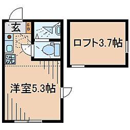 Huvafen Fushi 鶴見(フヴァフェンフシツルミ)[105号室]の間取り