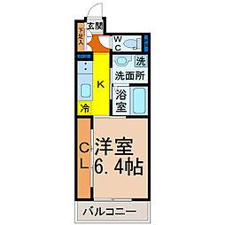 Grandeur Chikusa(グランドゥール千種)[2階]の間取り