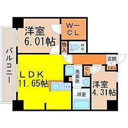 Kamiya Bldg東桜[201号室]の間取り