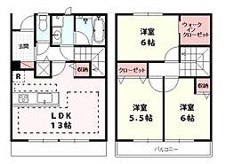 [テラスハウス] 東京都世田谷区大蔵5丁目 の賃貸【/】の間取り
