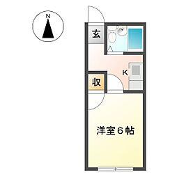コーポ第2椎名崎[2階]の間取り