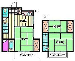 赤沢テラス[1階]の間取り