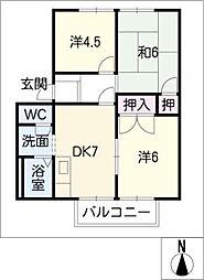 ヴェルディSEGI B棟[1階]の間取り