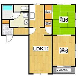 アネックス澤野井(06〜08)[2階]の間取り