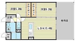兵庫県姫路市兼田の賃貸マンションの間取り