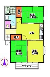細村コーポA[2階]の間取り