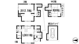 [一戸建] 兵庫県川西市見野3丁目 の賃貸【/】の間取り