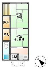 鈴木荘[2階]の間取り