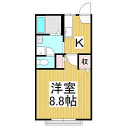 サライ21 A棟[2階]の間取り
