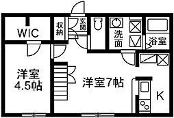 プリマ前橋朝倉104[1階]の間取り