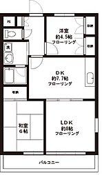 東京都昭島市緑町1丁目の賃貸マンションの間取り