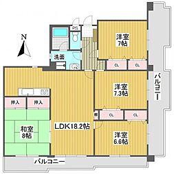 プリメール石神井[1階]の間取り