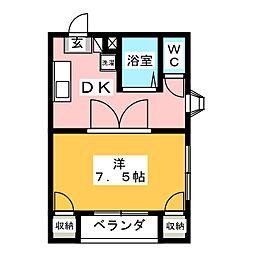ディライトマンション[2階]の間取り