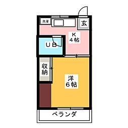 ハイツ桂[2階]の間取り