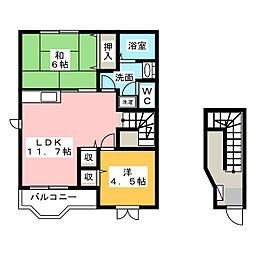 シンシアエトワール[2階]の間取り
