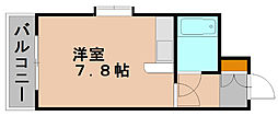 ステイタスマンション博多駅南[3階]の間取り