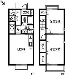 [テラスハウス] 愛知県刈谷市高倉町 の賃貸【/】の間取り