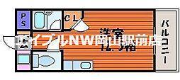 岡山県岡山市南区西市丁目なしの賃貸マンションの間取り