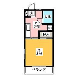 コーポケルン[2階]の間取り