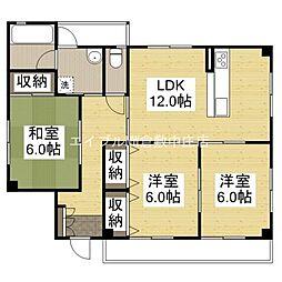 フラワーハイツVII[3階]の間取り