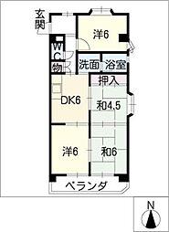 鈴香ハイツ[3階]の間取り