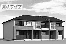 千葉県流山市青田の賃貸アパートの外観