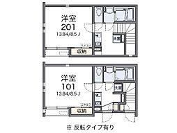兵庫県神戸市西区玉津町上池の賃貸アパートの間取り