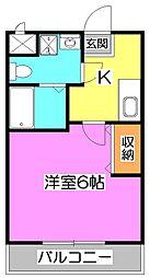 JC Street鶴瀬[2階]の間取り