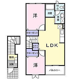 リヴァーサイド II[2階]の間取り